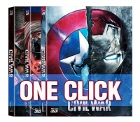 [Blu-ray] Captain America: Civil War (2Disc: 2D+3D) One Click Steelbook LE (Weetcollection Exclusive No.01)