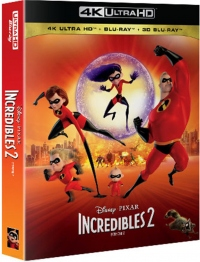 [Blu-ray] Incredibles 2 4K UHD(4Disc: 4K UHD + 3D + 2D + Bonus Disc) Fullslip Steelbook Limited Edition