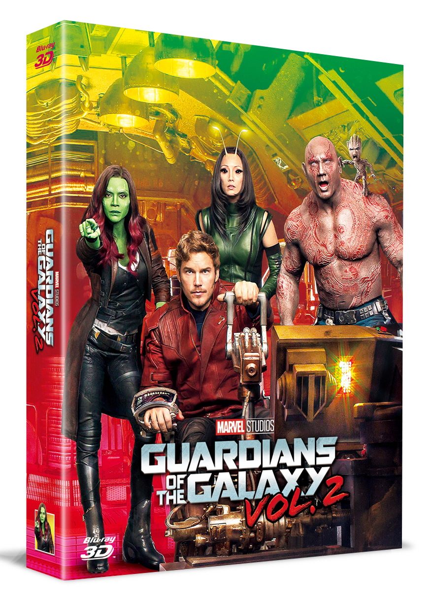 [Blu-ray] Guardians of the Galaxy Vol. 2 Fullslip A1(2Disc: 3D+2D) Steelbook LE(Weetcollcection Exclusive No.2)
