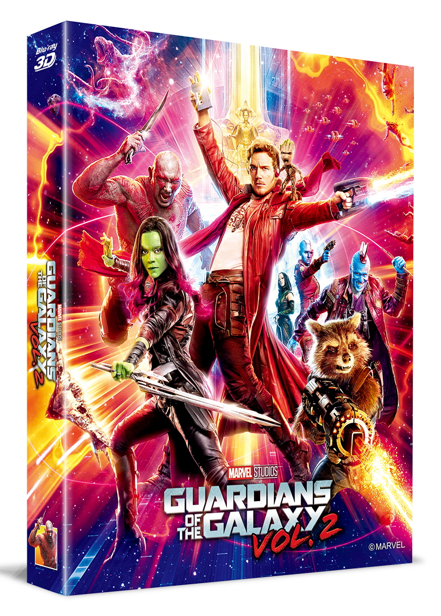 [Blu-ray] Guardians of the Galaxy Vol. 2 Lenticular Fullslip B(2Disc: 3D+2D) Steelbook LE(Weetcollcection Exclusive No.2)