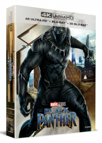 [Blu-ray] Black Panther Lenticular Fullslip B1(3disc: 4K UHD + 3D + 2D) Steelbook LE(Weetcollcection Exclusive No.3)
