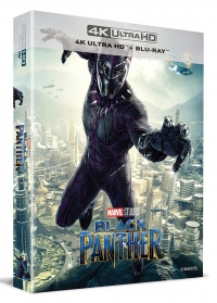 [Blu-ray] Black Panther Lenticular Fullslip B2(2disc: 4K UHD + 2D) Steelbook LE(Weetcollcection Exclusive No.3)