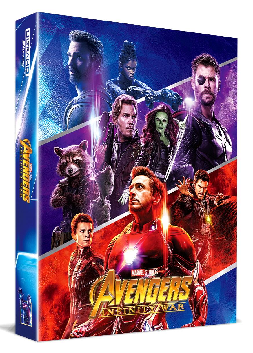 [Blu-ray] Avengers: Infinity War Fullslip A1(3disc: 4K UHD + 3D + 2D) Steelbook LE(Weetcollcection Exclusive No.4)