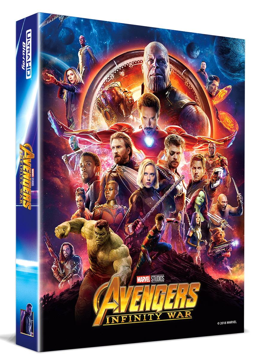 [Blu-ray] Avengers: Infinity War Lenticular Fullslip B2(2disc: 4K UHD + 2D) Steelbook LE(Weetcollcection Exclusive No.4)